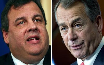 Chris Christie / John Boehner (© AP)