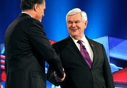 Mitt Romney y Newt Gingrich (Ross D. Franklin/AP)