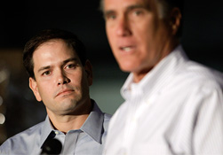 Marco Rubio &amp; Mitt Romney (&#169; Jae C. Hong/AP)