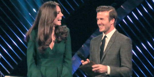 Photo: Catherine Duchess of Cambridge & David Beckham (Geoffrey Robinson/Rex Features)