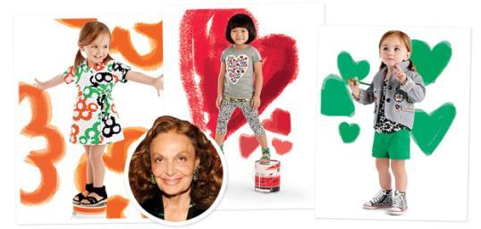 Photo: Courtesy of DVF for GapKids; Eugene Gologursky/WireImage