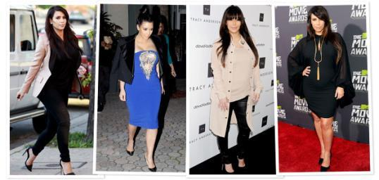Kim Kardashian // PHOTO: WireImage (2); Pacific Coast News (2)