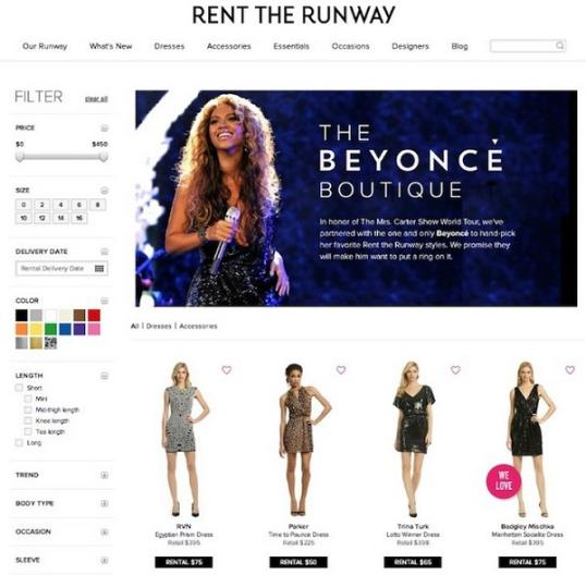 Photo: Beyoncé // Courtesy of Rent the Runway