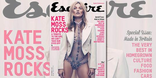 Photo: Kate Moss // Courtesy of Esquire