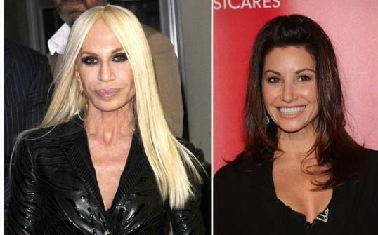 Photo: Donatella Versace and Gina Gershon // Getty