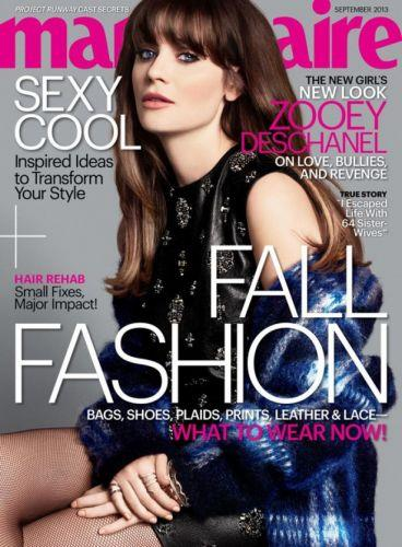 Photo: Zooey Deschanel on the cover of Marie Claire // Courtesy of Her Campus