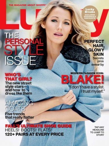 Photo: Blake Lively on the cover of Lucky Magazine // Courtesy of Her Campus