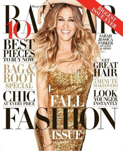 Photo: Sarah Jessica Parker on the cover of Harper's Bazaar Magazine // Courtesy of Her Campus