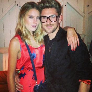 Photo: Henry Holland with model Dree Hemingway