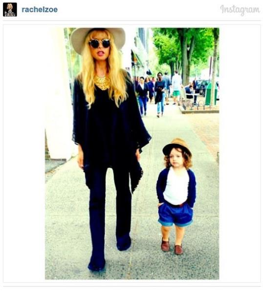 Rachel Zoe and her son Skylar
