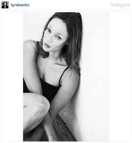 Photo: Tyra Banks impersonating Kate Moss // via Tyra Banks Instagram
