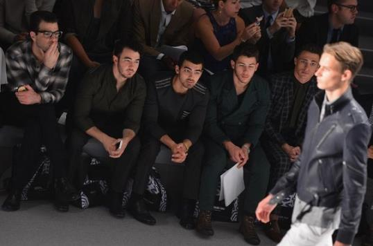 Photos: The Jonas brothers at New York Fashion Week // Getty Images