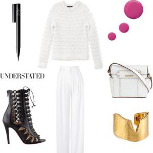 Tibi sweater and Sass & Bide trousers