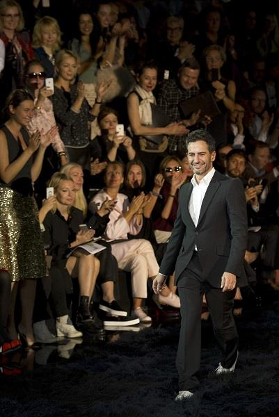 Marc Jacobs at his final runway show, courtesy of AP
