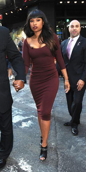 Jennifer Hudson arriving to Good Morning America studios
