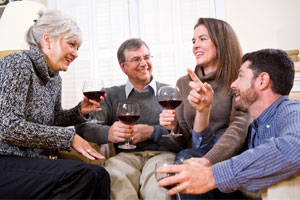 Photo: Family drinking wine // Thinkstock
