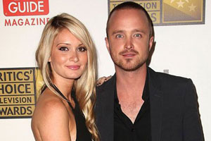 Photo: Aaron Paul and Lauren Parsekian // Shutterstock