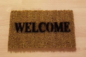 Photo: Welcome mat // Thinkstock