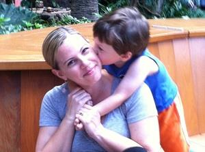 Kim Simon and her son Max