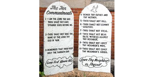 Photo: Ten Commandments / Richard Goerg/Getty Images