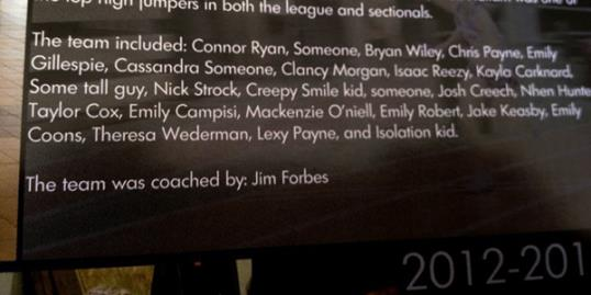 Photo: Made-up names appear in yearbook / Courtesy of troyrecord.com