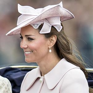 LONDON, ENGLAND - JUNE 15: Catherine, Duchess of Cambridge during the annual Trooping The Colour ceremony at Horse Guards Parade on June 15, 2013 in London, England. (Photo by Mark Cuthbert/UK Press via Getty Images)