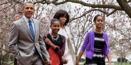 President Obama & family (Rex Features)