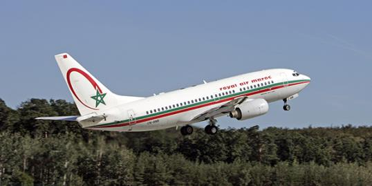 Woman gives birth to baby boy on flight. File photo of a Royal Air Maroc Boeing 737-700 (REX/Image Broker)
