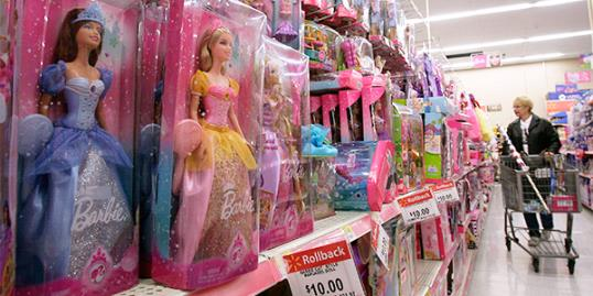 ​File photo off Barbie merchandise at a Wal-Mart store (Gene J. Puskar/AP)