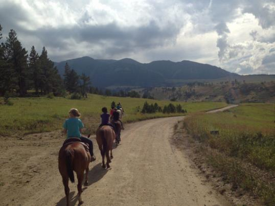 Horse ride, courtesy of Jennifer Hatmaker