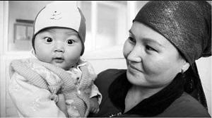 Photo: Mother & baby in Kyrgyzstan, courtesy of Save the Children
