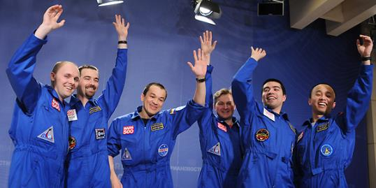 Photo: The six members of the Mars500 crew emerge from isolation on November 4 after spending almost one-and-a-half-years locked away from the world (Alexander Nemenov/AFP/Getty Images)