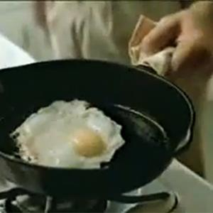 Photo: This is your brain on drugs PSA, egg in frying pan / RetroPile via YouTube, http://aka.ms/drugs