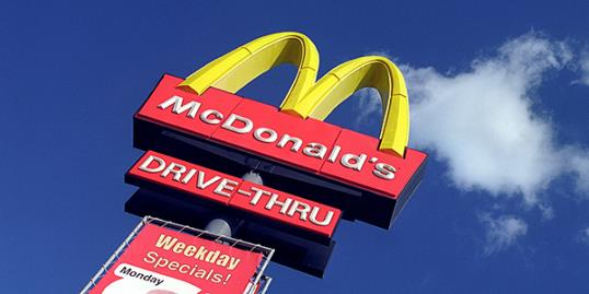 Photo: McDonald's drive-thru sigh / Jack Sullivan/Alamy 