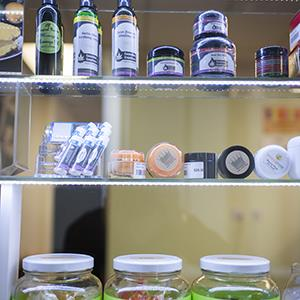 Some of the marijuana products for sale at the Northwest Patient Resource Center. (John Chapple/Rex Features)