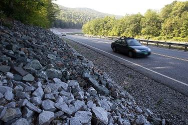 Cars travel on the rebuilt Vermont Route 107 in Bethel, Vt.Driving in America has stalled, leading researchers to ask: Is the national love affair with the automobile over? (AP Photo/Toby Talbot)