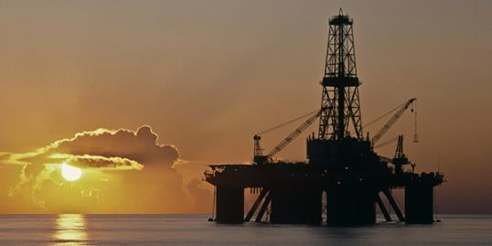 Offshore oil rig. (© Mayumi Terao/Getty Images)