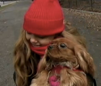Photo: ABC News // Mia Bendray was happily reunited with Marley in Christmas Day.