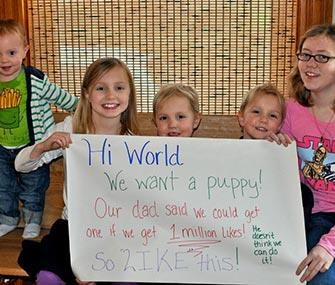 Photo: Twogirlsandapuppy / Facebook / The Cordell kids were successful with their Facebook plea.
