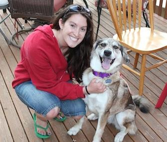 Photo: Mary Wolfe was reunited with Nahla on June 3, eight months after the dog disappeared. / Help Find Nahla / Facebook