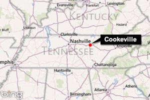 Image: Map of Cookeville, Tenn. (&#169; 2011 Microsoft Corporation/2010 NAVTEQ)