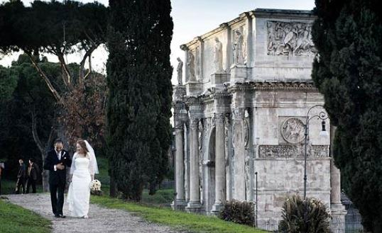Helen and Victor Santiago marry in Rome