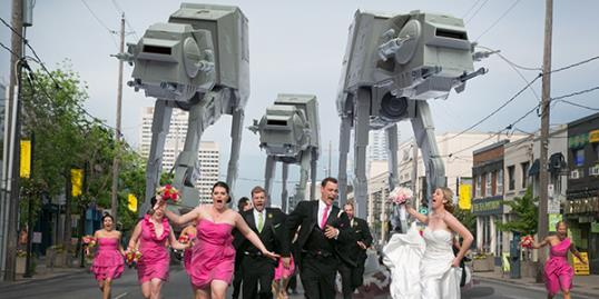 Photo: Star Wars wedding / Little Blue Lemon photography