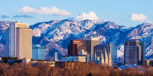Salt Lake City Skyline in early spring (strickke/Getty Images)
