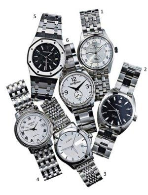 Stainless steel watches // Photo: Jens Mortensen