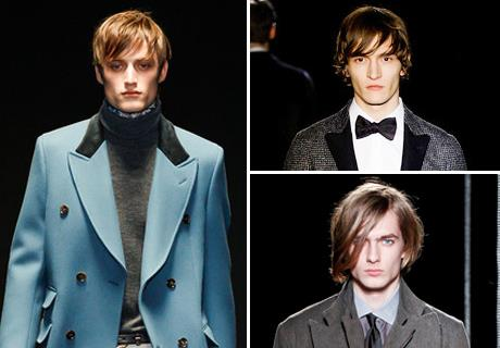 Guys with stylish long hair // Images courtesy Style.com