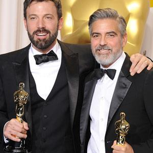 Ben Affleck, George Clooney at the Oscars.
