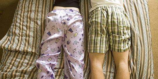Men say they prefer women to wear pajamas to bed, according to a new survey.