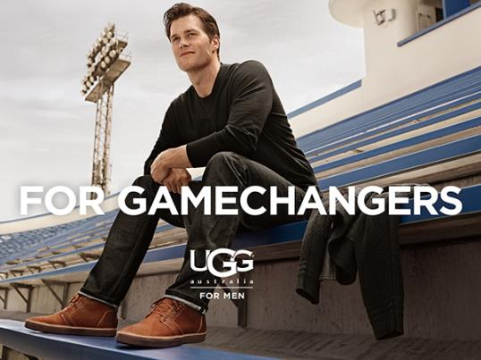 UGG for Men 'For Gamechangers' print ad featuring Tom Brady (Business Wire)