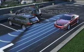 Infiniti Backup Collision Intervention. Image courtesy of Infiniti.